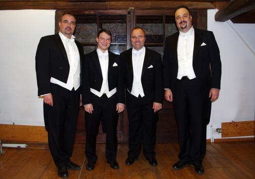 v.l.n.r.: Johannes Peter, Christof Merz, Daniel Chroust, Georg Peter